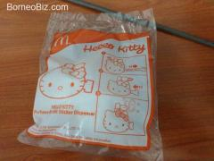 Unopened McDonald's Hello Kitty Perfume Bottle Sticker Dispenser