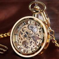 Steampunk Mechanical Manual Winding Pocket Watch!!