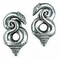 Borneo White Brass Ear Weights Hangers