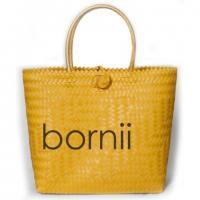 """bornii"" classy handmade, hand-woven shopping bag (Yellow)"