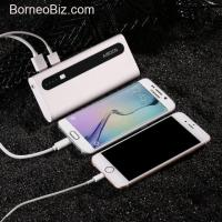 Power Bank 10,000mAh External Battery Charger with Flashlight - Upgraded